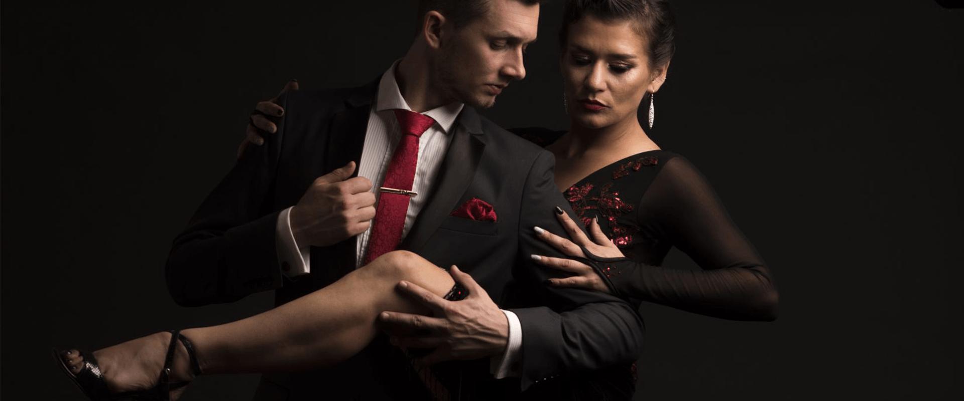 tijdens tango dansles in Den Haag